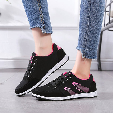 Mesh Sneakers Women Fashion Light  Shoes Ladies Non-slip Flat Casual Shoes