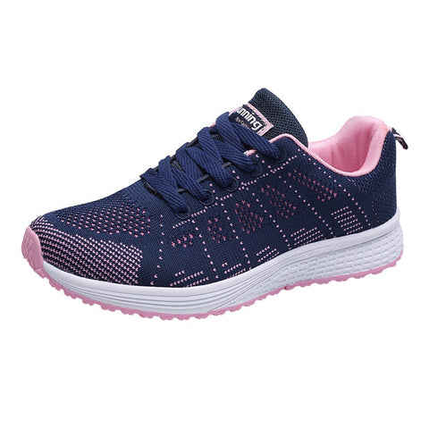 Women Fashion Mesh Shoes Spring/Autumn Casual Round Cross Straps Flat Sneakers Running Shoes  Empire