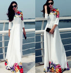 Women  Dresses Robe  Flowering Dress