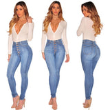 Women Classic Jeans High Waist Skinny Pencil Long Jeans
