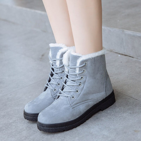 Women Winter Boots Warm Fur Snow Woman