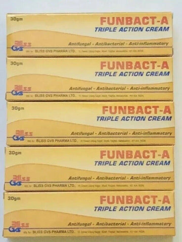 4 X Original Funbact -A Cream. Fast Remedy For All Type Of Skin Inflammation