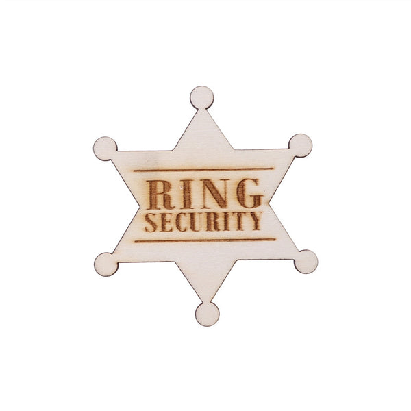 Ring Security Badge Breastpin for Wedding Rustic Wooden Ring Bearer Gift for Boys Wedding Accessories - Your Affordable Wedding