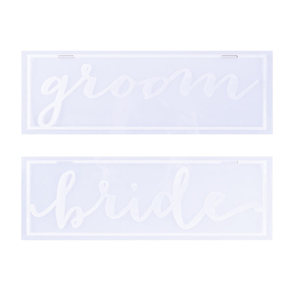 Wedding Sign Decoration Acrylic Computer Marking Ornaments for Wedding Bride Groom Gift Favor - Your Affordable Wedding