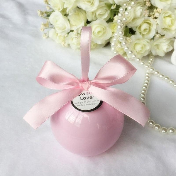 PVC Round Wedding Candy Box Fashion Ball Candy Packaging Bin Wedding Decoration Gift Favor - Your Affordable Wedding