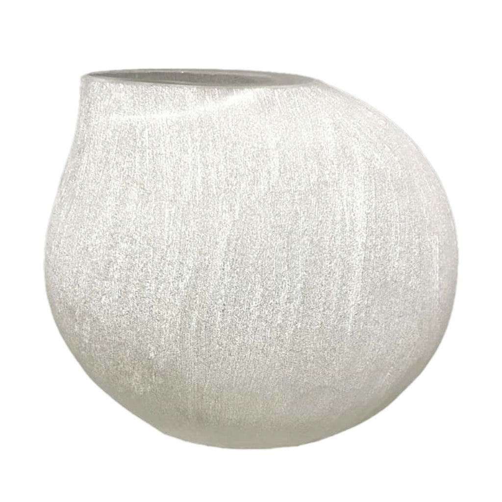 Frosted White Droplet Vase