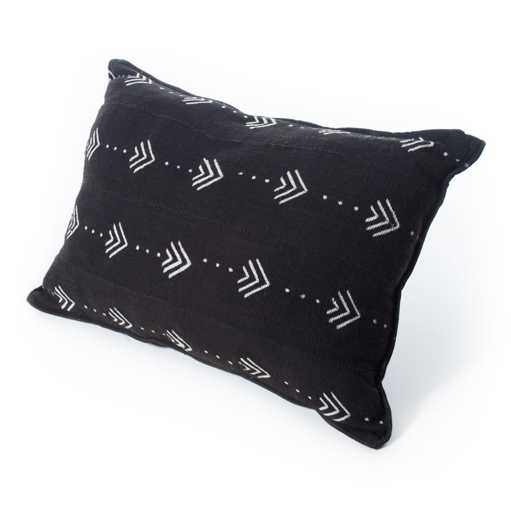 Mud Cloth Cushion Black