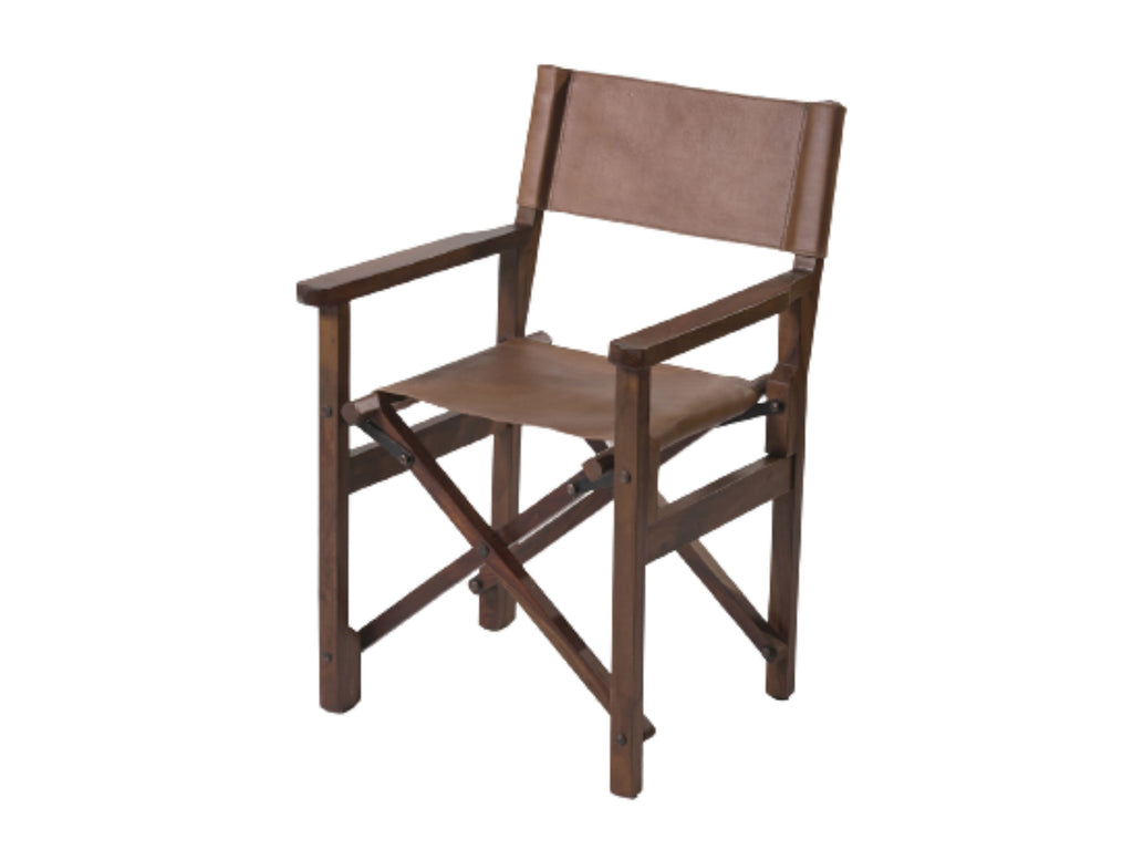 Folding Leather & wood  Chair
