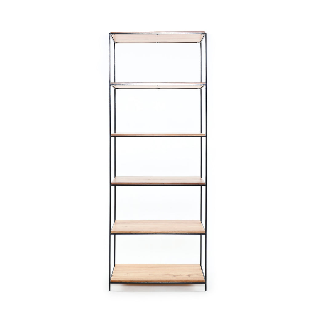 Steel straight shelves display unit