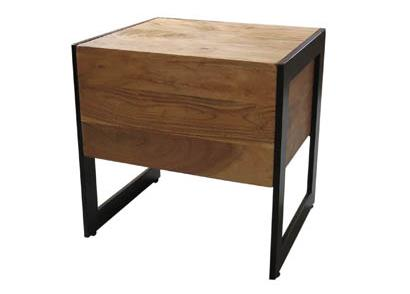 Acacia Wood Side Table