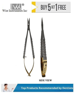 Castro-Viejo Scissors Straight Tips, 12cm Tungsten Carbide