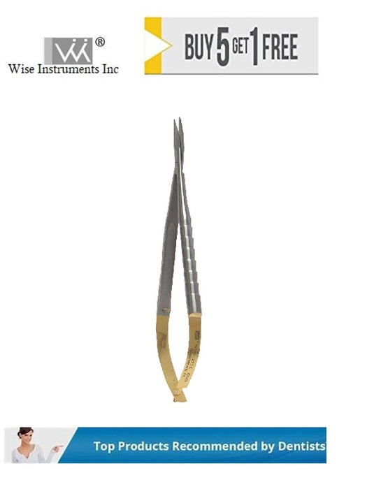 Castro-Viejo Scissors Curved Tips, 12cm Tungsten Carbide
