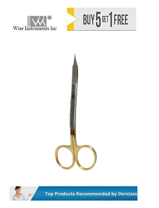 Goldman Fox Scissor Curved, Curved Handle, 12.5cm Tungsten Carbide