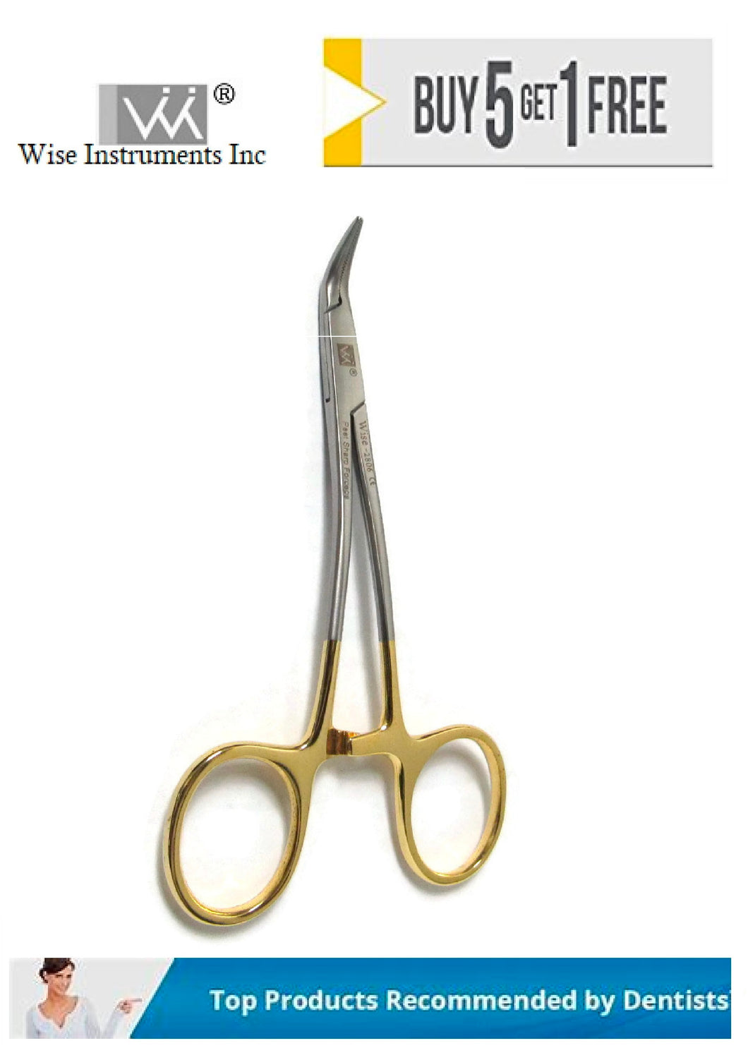 45° Peet Post & Point Removal Forceps