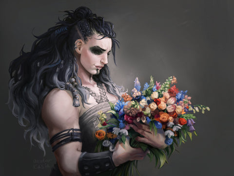 """Flowers for Yasha"" May Preorder - Knitical Role Yarn Club Mighty Nein"