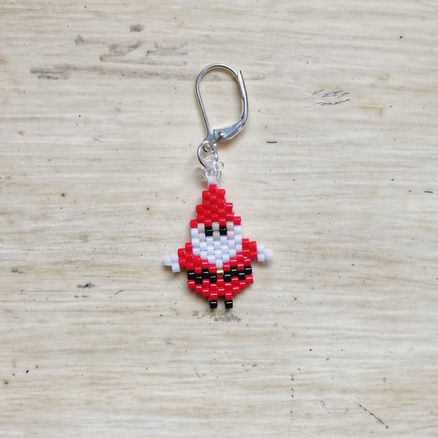 Santa Beaded Stitch Marker