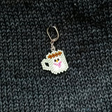Snowman Mug Beaded Stitch Marker