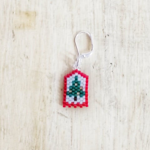 Christmas Tree Beaded Stitch Marker