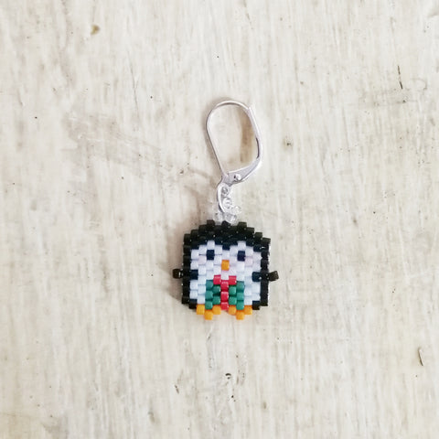 Penguin Beaded Stitch Marker