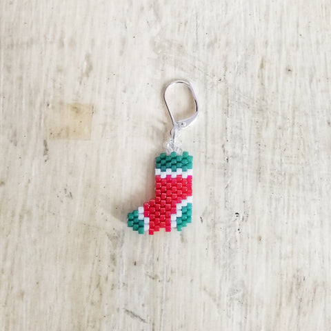 Sock Christmas Stocking Beaded Stitch Marker