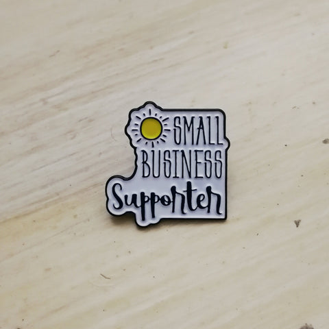 Small Business Supporter Enamel Pin Badge