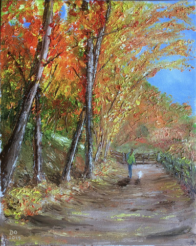 Woodland Autumn Oil Painting Chase End