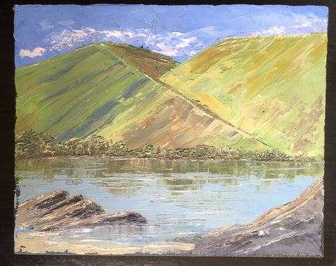 Lake and Mountain Oil Painting