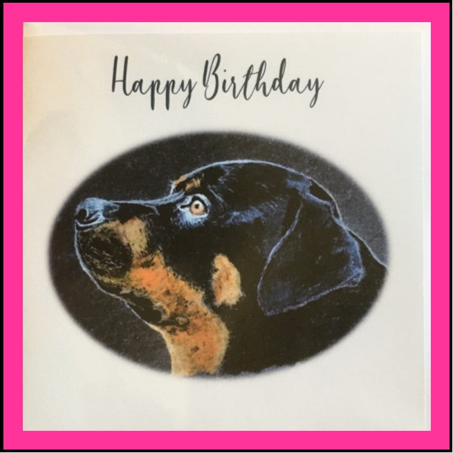 Greeting Card Rottweiler -