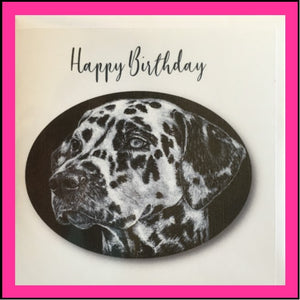 "Greeting Card Dalmatian - ""Happy Birthday"""