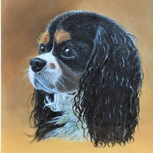 Pet portrait in oil or acrylic, hand-painted original from your photos.  Spaniel dog painting.