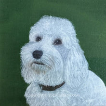 Load image into Gallery viewer, Pet portrait in oil or acrylic, hand-painted original from your photos.  Cockapoo dog painting.