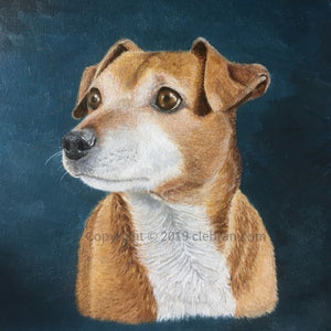 Pet Portrait Hand Painted Original Oil Painting of your Dog on 12 x 16 Canvas from your photos - Terrier