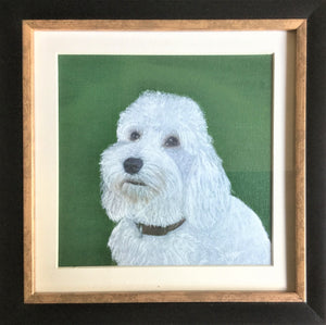 Pet portrait in oil or acrylic, hand-painted original from your photos.  Cockapoo dog painting.
