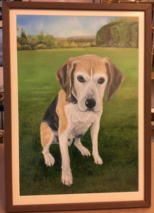 "Pet Portrait Hand Painted Original Oil Painting of your Dog on 16"" x 20"" Canvas"