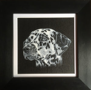 Pet portrait in oil or acrylic, hand-painted original from your photos.  Dalmatian dog painting.