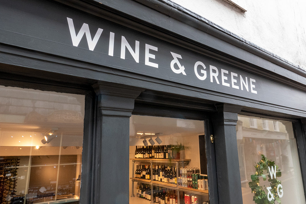 Wine & Greene Totnes sign