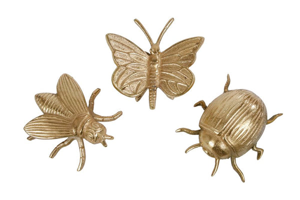 Sculptuur Insects L Goud A3 Aluminium 13x10x4cm
