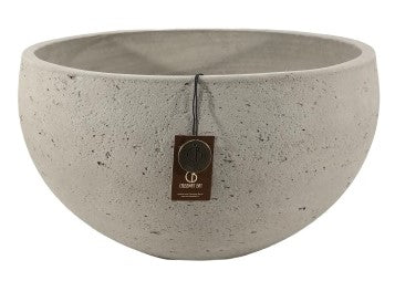 Adelaide Cement Light  Bowl Set 3  Olive 45x23 - 37x19 - 31x16