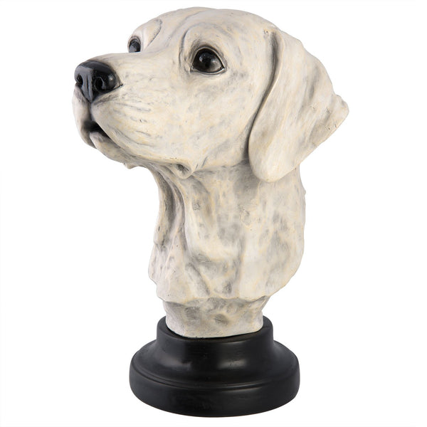 Buste Hond | 24x21x3 cm | Wit
