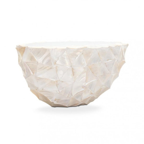 Pot Mother Of Pearl Ovaal 26x60x30cm Creme