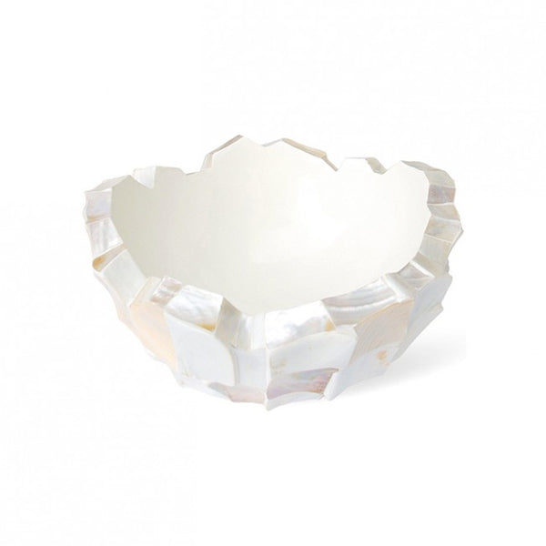 Schaal Mother Of Pearl Ø60x33cm Creme