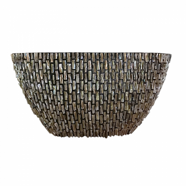 Pot Rough Shell High Ovaal 81x31x46cm Bruin