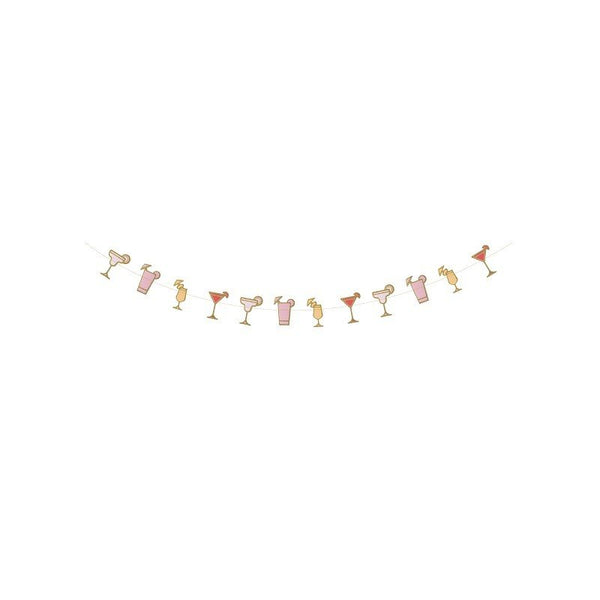 Garland Cocktail Roze 250cm