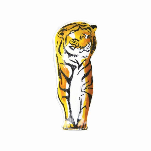 Plate Anouk Tiger Standing Multicolor 28x11x3.5cm