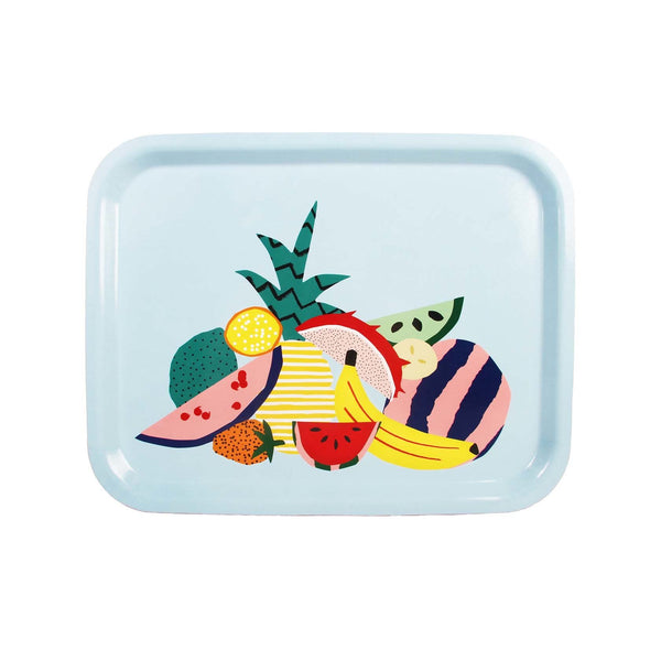 Tray Fruit Rectangle Blauw 36x28x1cm