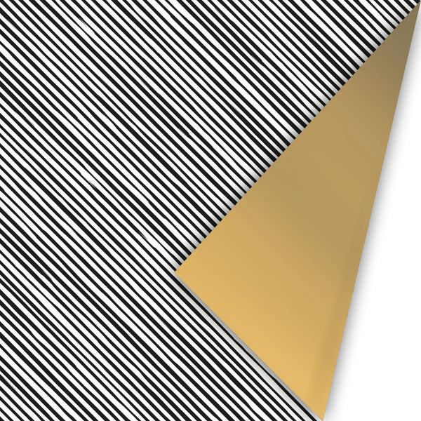Manual Stripes - Toonbankrol  Zwart/wit/goud