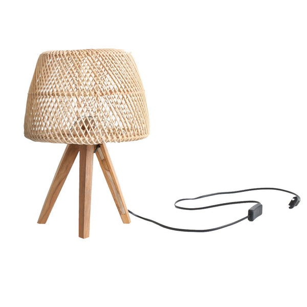Maze Tripod Table Lamp Natural | 29x29x43 cm | Beige