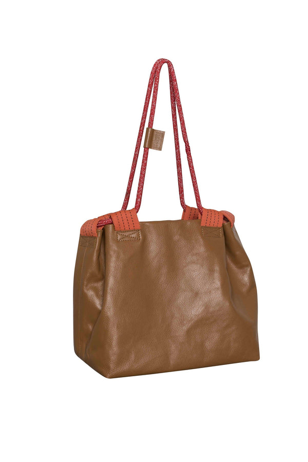Canvas Bag With Rope Bruin