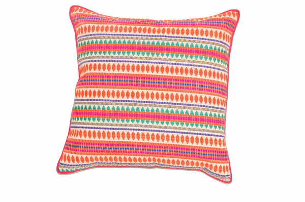 Jacquard Pillow Cover Pink Paars