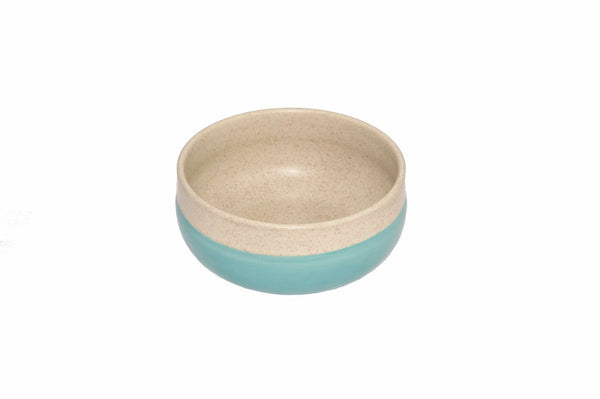 Two Colour Bowl Naturel/turquoise